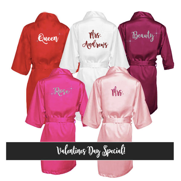 Valentines Day Robe - SimplyNameIt