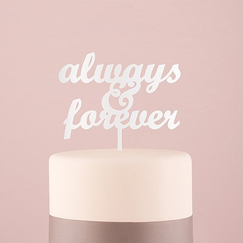 Always and Forever Cake Topper - SimplyNameIt