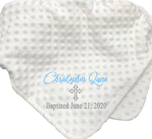 Baptism Baby Blanket - SimplyNameIt