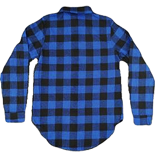 Blue Plaid Button Down Shirts Embroidered - SimplyNameIt