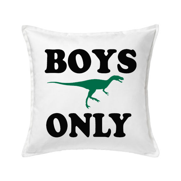 Boys Only Dinosaur Pillow - SimplyNameIt