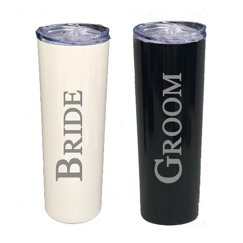 Bride and Groom Engraved Tumbler Set - SimplyNameIt