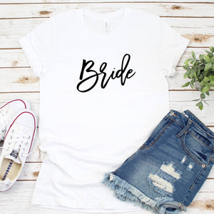 Personalized Bride Crew Neck T-Shirt - SimplyNameIt