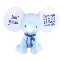 Blue Elephant Embroidered - SimplyNameIt