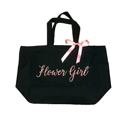 Flower Girl Tote with Glitter - SimplyNameIt