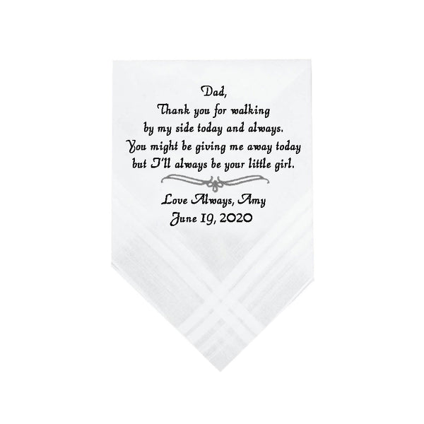 Father of Bride Handkerchief - SimplyNameIt