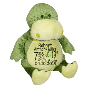 Dinosaur with Embroidered Saying or Birth Stats - SimplyNameIt