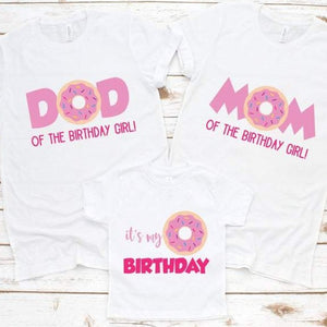 Donut Family Birthday Shirts - SimplyNameIt