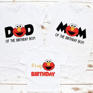 Elmo Family Birthday Shirts - SimplyNameIt