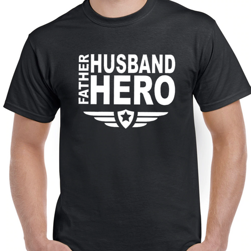 Father Husband Hero T-Shirt - SimplyNameIt
