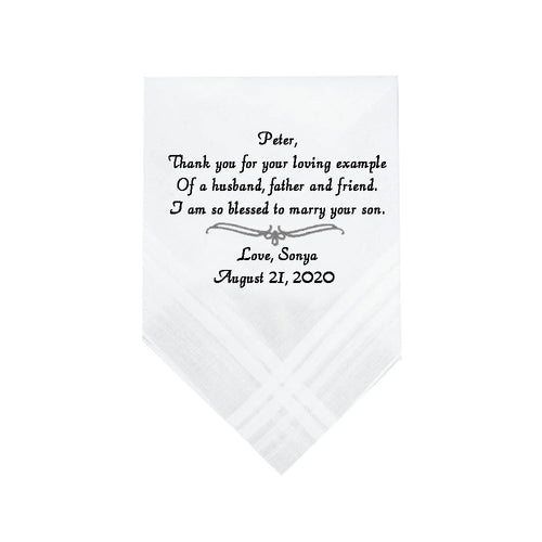 Father of Groom Handkerchief - SimplyNameIt