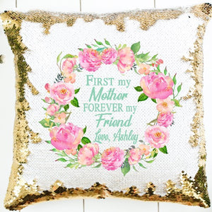 Mom Sequin Pillow - SimplyNameIt