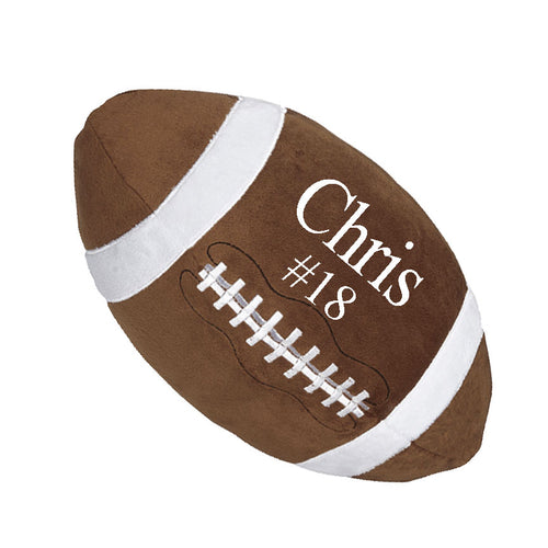 Football stuffy with Embroidered name - SimplyNameIt