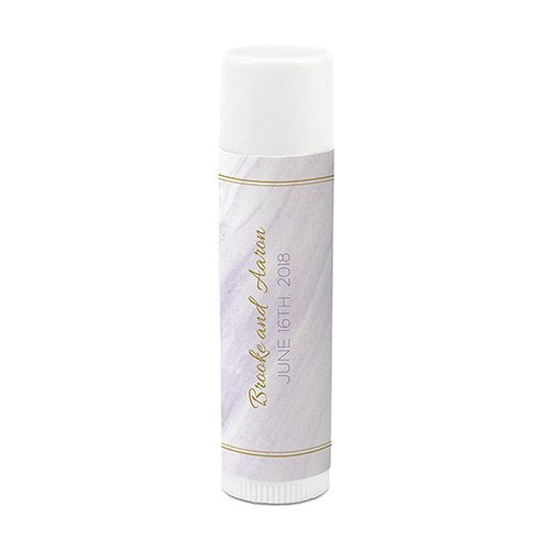 Geo Marble Personalized Lip Balm (12) - SimplyNameIt