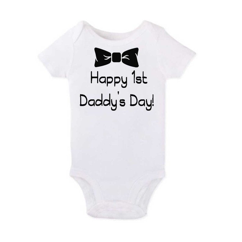 Happy 1st Daddy's Day Onesie - SimplyNameIt