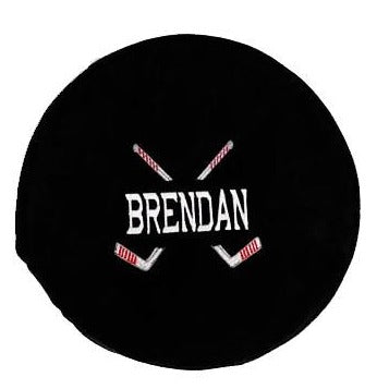 Hockey Puck Stuffy with Embroidered name - SimplyNameIt