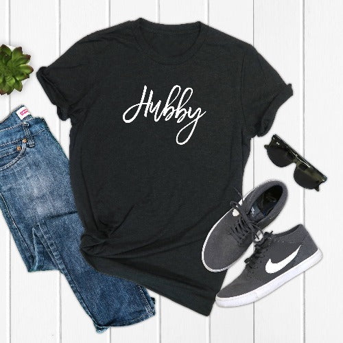 Personalized Hubby Crew Neck T-Shirt - SimplyNameIt