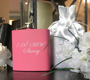 I Do Crew Flask - Pink