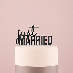 Just Married Cake Topper - SimplyNameIt