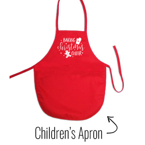 On a One cook open sleigh Christmas Apron - SimplyNameIt