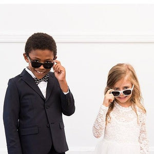White Sunglasses For Kids - SimplyNameIt