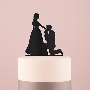 Kneeling Cake Topper - Black