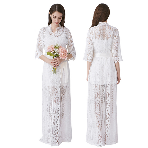 Long Lace Robe - SimplyNameIt