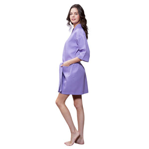 Lavender Waffle Robe - SimplyNameIt
