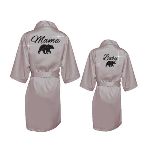 Mama Bear Robe Set - SimplyNameIt
