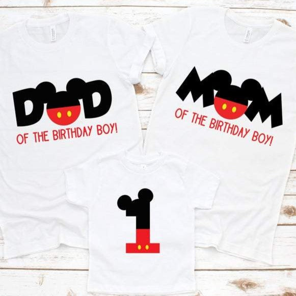 Mickey Mouse Family Birthday Shirts - SimplyNameIt