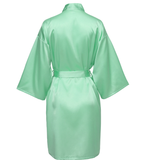 Mint Satin Robe - SimplyNameIt