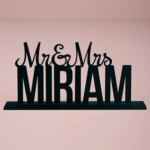 Mr. and Mrs. Personalized Cake Topper - SimplyNameIt