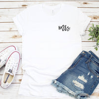 Mrs Crew Neck T-Shirt - SimplyNameIt