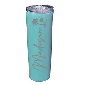Engraved Tumbler with Palm Tree - SimplyNameIt