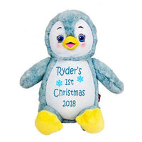 Penguin with Embroidered Saying or Birth Stats - SimplyNameIt