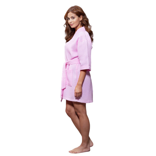 Light Pink Waffle Robe - SimplyNameIt