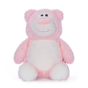 Pink Bear with Embroidered Birth Stats - SimplyNameIt