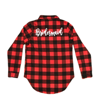 Red Plaid Button Down Shirt Personalized with Vinyl - SimplyNameIt