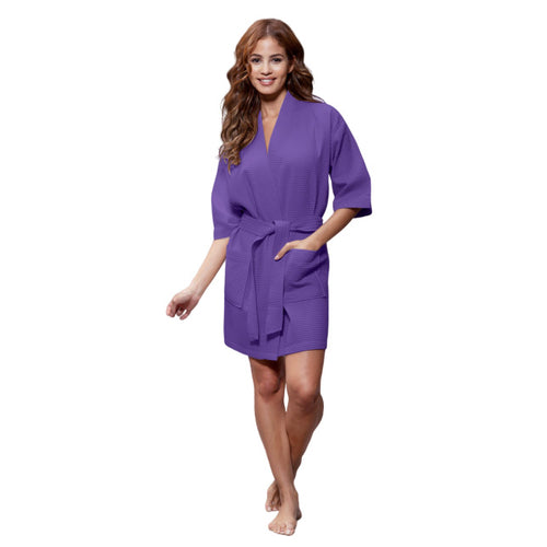 Purple Waffle Robe - SimplyNameIt