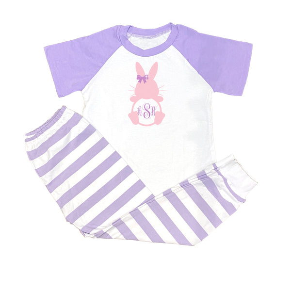 Purple Monogram Easter Pajamas