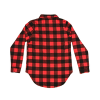 Red Plaid Button Down Shirts Embroidered - SimplyNameIt