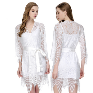 Short Lace Robe - SimplyNameIt