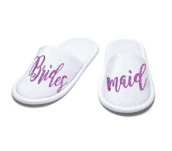 Bridesmaid Closed Toe Slippers