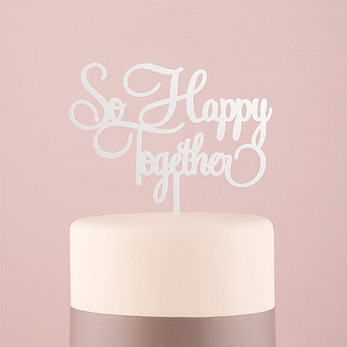 So Happy Together Cake Topper - SimplyNameIt