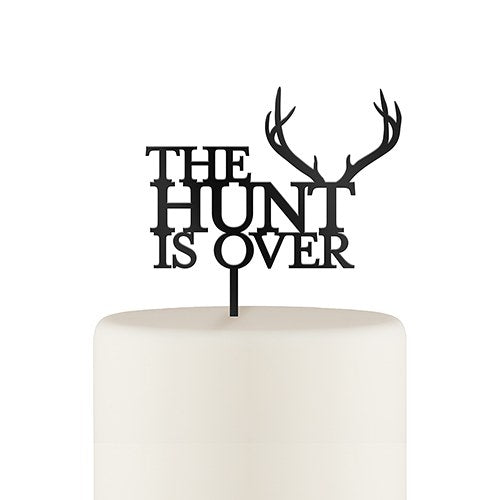 The Hunt is Over Cake Topper