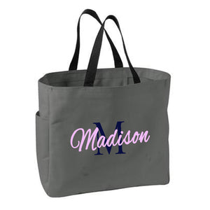 Name and Initial Tote - SimplyNameIt