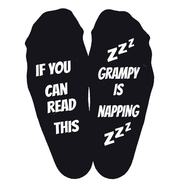 Grampy Is Napping Socks - SimplyNameIt