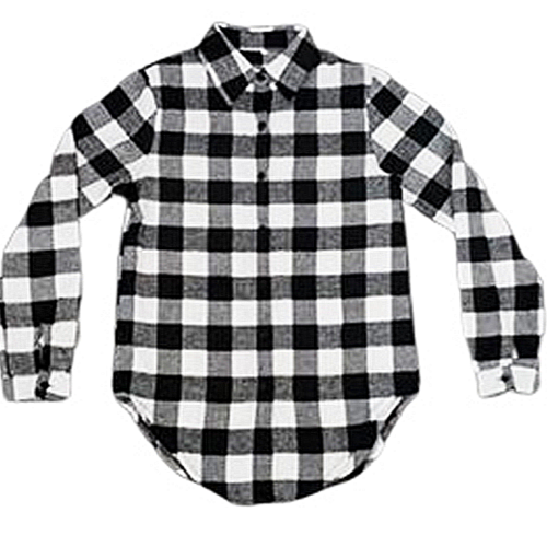White Plaid Button Down Shirts Embroidered - SimplyNameIt