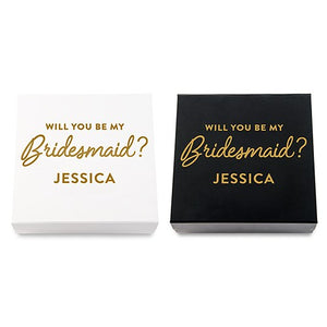 Will you be my Bridesmaid? Proposal Box - SimplyNameIt