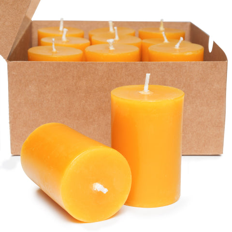 Bumps and Bruises Beeswax Votive Candles - Straight Sided